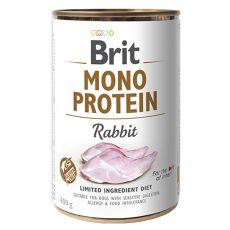 Conservă Brit Mono Protein Rabbit, 400 g