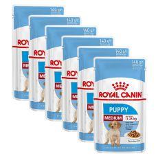 Pliculeț Royal Canin Medium Puppy 6 x 140 g
