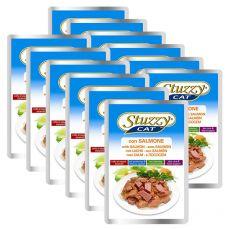 Pliculeț Stuzzy cat - somon, 12 x 100 g