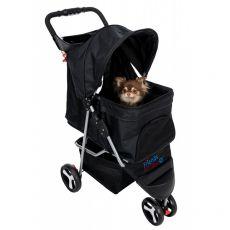 Buggy 47 x 100 x 80 cm cărucior pentru câini și pisici, negru