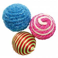 Seturi de mingi colorate pentru pisici, 3 x 4 cm