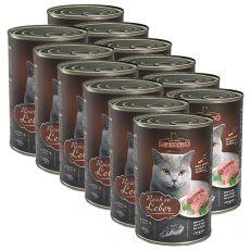 Leonardo - Conservă pentru pisici cu Ficat 12 x 400g