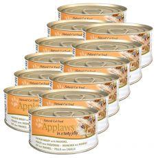 Applaws Cat Jelly - conservă pentru pisici cu pui și macrele, 12 x 70g