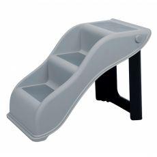 Scari din plastic Pet Stairs 34 x 39 cm, gri