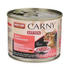 CARNY KITTEN Carne de vită + inimă de curcan 200 g