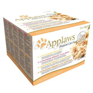 Conservă  Applaws Cat Chicken Selection 12 x 70 g