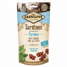 Carnilove Cat Semi Moist Snack Sardine îmbogățite cu patrunjel 50 g