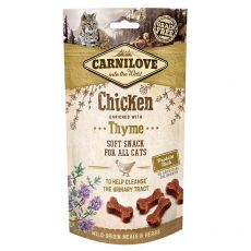 Carnilove Cat Semi Moist Snack Pui îmbogățit cu Cimbru 50 g