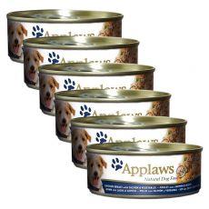 Conservă pentru câini APPLAWS dog, pui, somon, legume, 6 x 156g