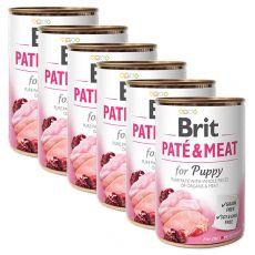 Conservă  Brit Paté & Meat PUPPY 6 x 400 g
