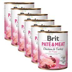 Conservă  Brit Paté & Meat PUPPY 6 x 800 g