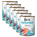 Conservă Brit Paté & Meat Salmon 6 x 800 g
