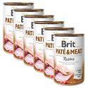 Conservă Brit Paté & Meat Rabbit 6 x 400 g