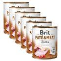 Conservă Brit Paté & Meat Rabbit 6 x 800 g
