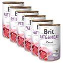 Conservă Brit Paté & Meat Lamb 6 x 400 g