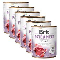 Conservă Brit Paté & Meat Lamb 6 x 800 g