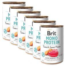 Consevă Brit Mono Protein Tuna & Sweet Potato 6 x 400 g