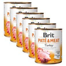 Conservă Brit Paté & carne de curcan 6 x 800 g