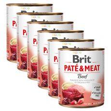 Tin Brit Paté & Meat Beef 6 x 800 g