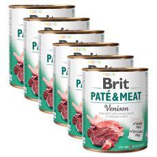 Conservă  Brit Paté & Carne de vânat 6 x 800 g