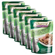 Stuzzy Speciality Dog - pui cu șuncă , 6 x 100 g
