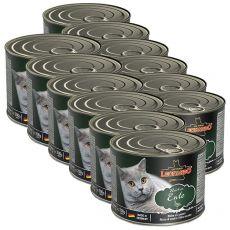 Conserva pentru pisici Leonardo, rață 12 x 200 g