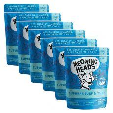 MEOWING HEADS Surf & Turf GRAIN FREE 6 x 100 g