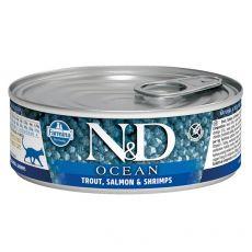 Farmina N&D cat Trout, Salmon & Shrimps can 80 g