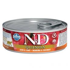 Farmina N&D cat Quinoa Herring & Coconut can 80 g