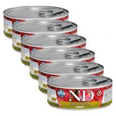 Farmina N&D cat Quinoa Urinary can 6 x 80 g, 5+1 GRATUIT