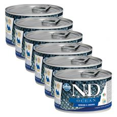 Farmina N&D dog Herring & Creveți can 6 x 140 g, 5+1 GRATUIT
