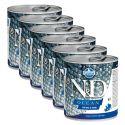 Farmina N&D dog Sea Bass & Squid can 6 x 285 g, 5+1 GRATUIT