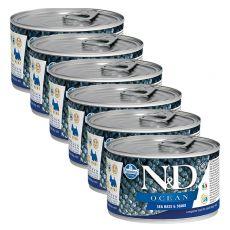 Farmina N&D dog Sea Bass & Squid can 6 x 140 g, 5+1 GRATUIT