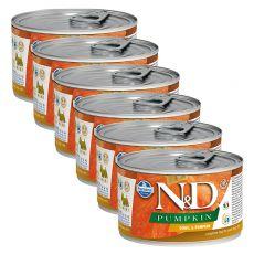 Farmina N&D dog Quail & Pumpkin can 6 x 140 g, 5+1 GRATUIT