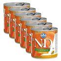 Farmina N&D dog Quail & Pumpkin can 6 x 285 g, 5+1 GRATUIT