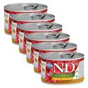 Farmina N&D dog Quinoa Quail & Coconut 6 x 140 g, 5+1 GRATUIT