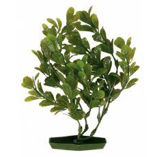 Planta de acvariu- plastic, 25 cm frunze ovale verzi