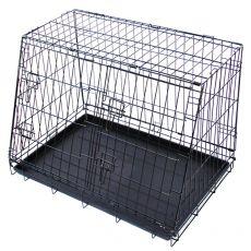 Cușcă metalică pentru câini în mașină 79,5 x 56,5 cm, neagră