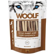 WOOLF iepure lung și sandwich de cod 100g