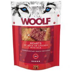 WOOLF Inimi de rață sau pui cu orez 100g