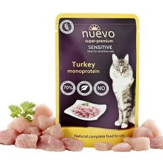 Pliculeț NUEVO CAT Sensitive Turkey Monoprotein 85 g