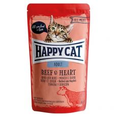 Pliculeț Happy Cat ALL MEAT Adult Beef & Heart 85 g