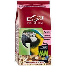 Parrots Premium 1kg - hrană pentru papagali de talie mare