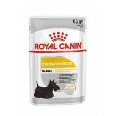 Royal Canin Dermacomfort Dog Loaf pliculeț cu pateu pentru câini cu probleme de piele 85 g