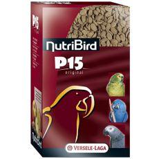NutriBird P15 Original 1kg - granule pentru papagali
