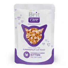Pliculeț Brit Care Kitten pui și brânză 80 g