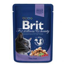 Pliculeț BRIT Premium Cat Cod Fish 100 g