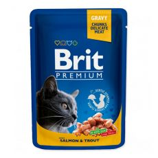 Pliculeț BRIT Premium Cat Salmon & Trout 100 g