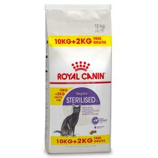 Royal Canin STERILISED 10 kg + 2 kg GRATUIT