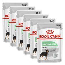 Royal Canin Digestive Care Dog Loaf pliculeț cu pate pentru câini cu digestie sensibilă 6 x 85 g, 5+1 GRATUIT